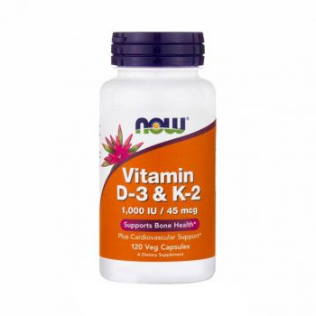Now Vitamin D3 K2(1000 Iu45mcg) 120 Viên