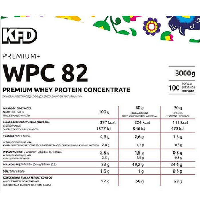 Kfd whey wpc 82 3kg