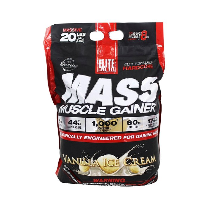 Elite Labs Mass Muscle Gainer 25.5lbs 11.6kg
