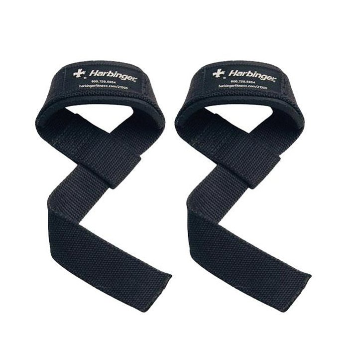 Harbinger padded cotton lifting straps 21.5 inchs