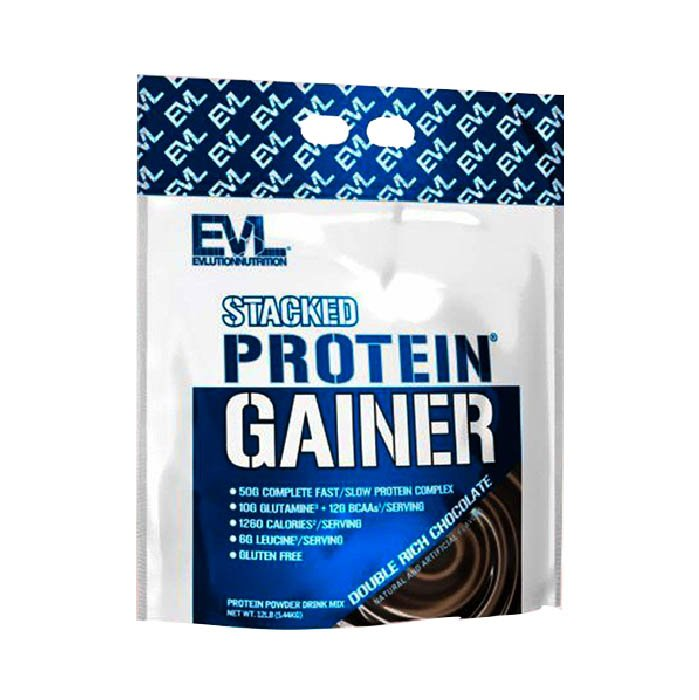 Evl stack protein gainer 12lbs 5.4kg - double rich chocolate